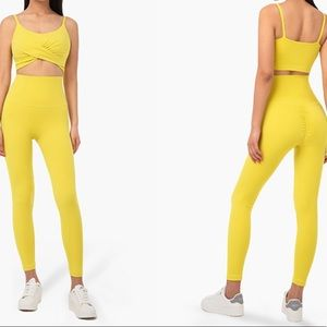 Mustard yellow workout set